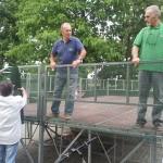 installazione palco asilo foto 2