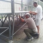 installazione palco asilo foto 3